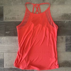 Pink Open Back Tank Top